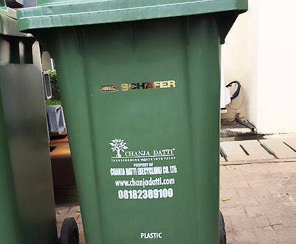 Supply of waste management equipments and materials