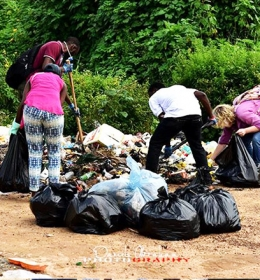 Durumi II Cleanup in collaboration with Transcorp Hilton and Stop.Don't.Drop Oct 10 2015